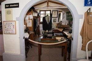 alte Schneiderei im Pulvermachermuseum